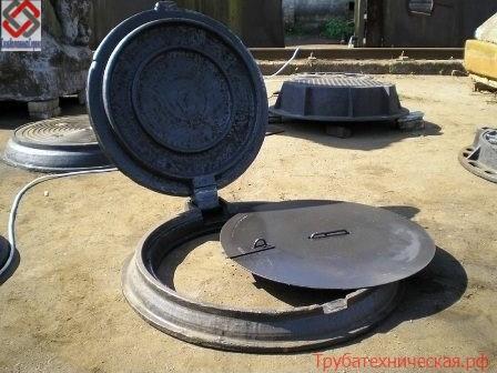 Устройство запорное для колодцев: УЗКК, УЗСК; крышка: стальная; КР-1; запорная с кольцом; решетчатая; ключ-крюк; ключ ДКЛ, ТМ; болты