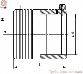 Муфта соединительная электросварная PE100 SDR11, SDR17