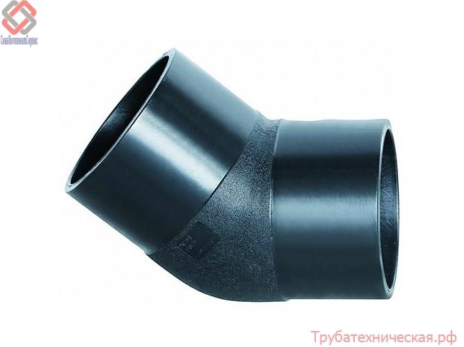 Отвод 45° литой (спигот) PE100 SDR 11, SDR17