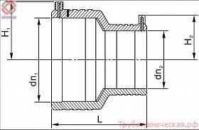 Переход редукционный электросварной PE100 SDR11