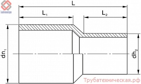Переход литой (спигот) PE100 SDR11, SDR17