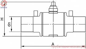 Полиэтиленовый шаровый кран стандартного типа