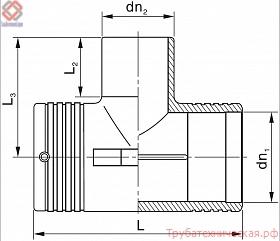 Тройник электросварной PE100 SDR 11