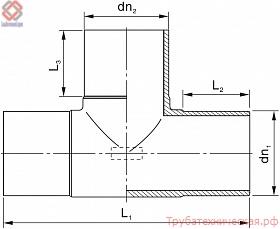 Тройник литой (спигот) PE100 SDR11, SDR17