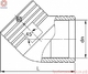 Угол 45°(отвод 45°) электросварной PE100 SDR 11