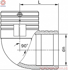 Угол 90°(отвод 90°) электросварной PE100 SDR 11